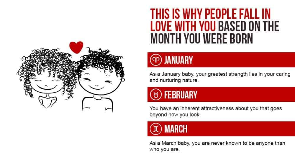 This Is Why People Fall In Love With You Based On The Month You Were Born 1
