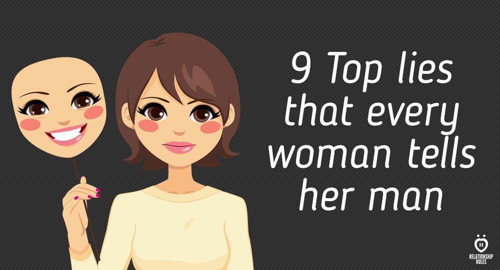 9 Top lies that every woman tells her man 1