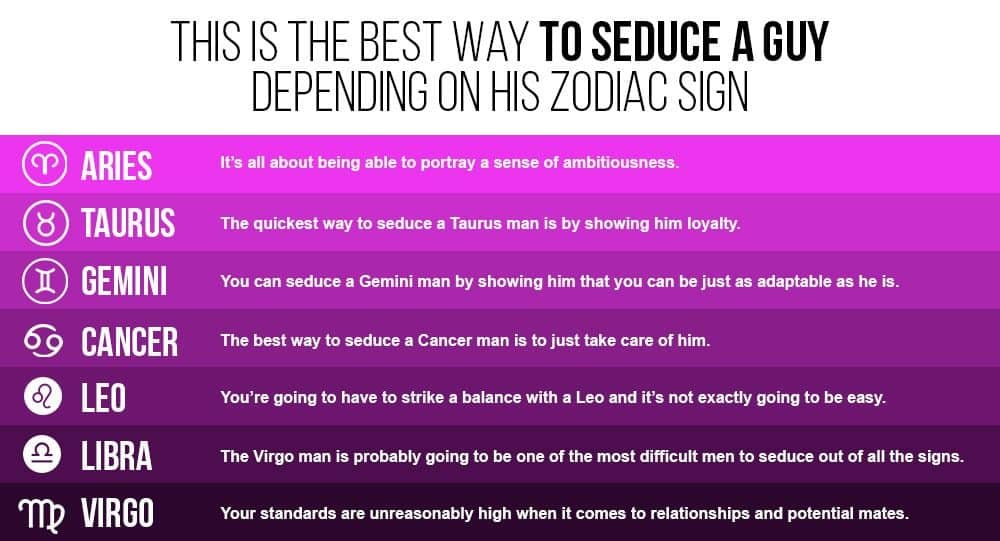How to seduce a virgo male