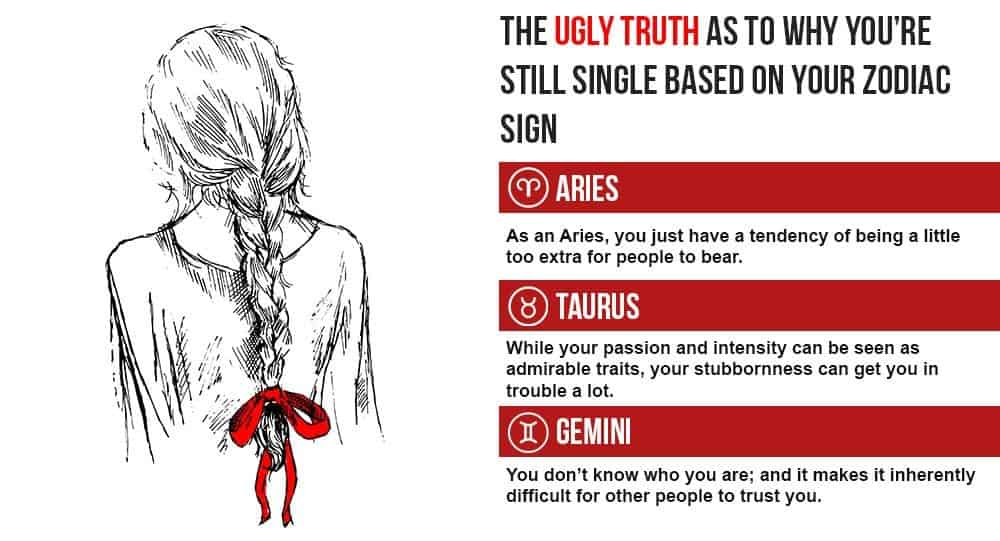 The Ugly Truth As To Why Youre Still Single Based On Your Zodiac Sign