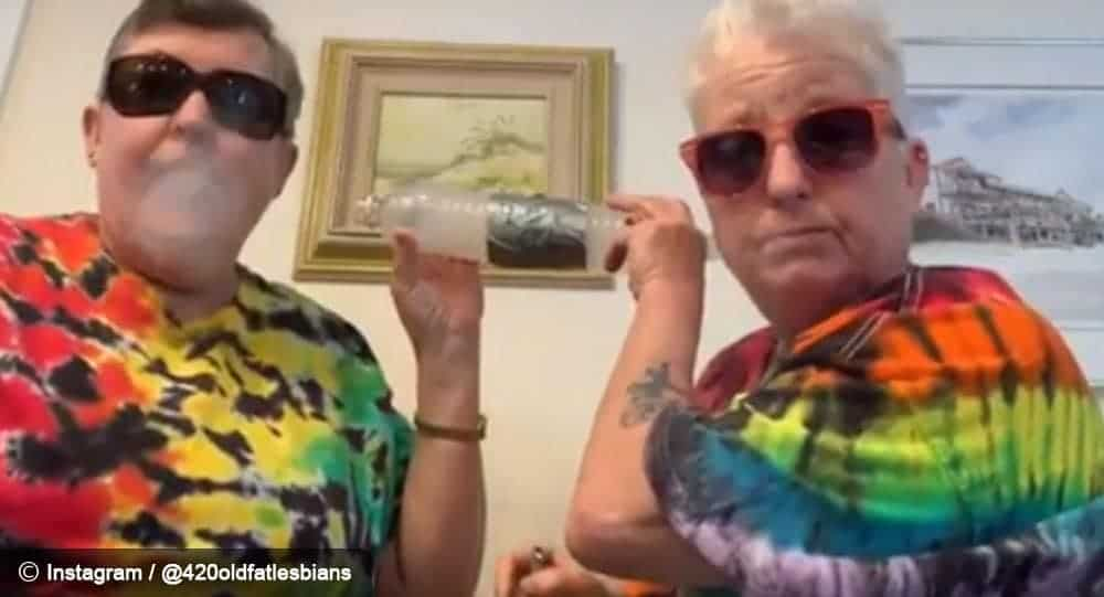 These Old And Gay Ladies Gain Instagram Fame With Videos Of Them Having Marijuana 8