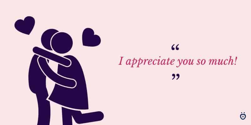 girlfriend appreciates