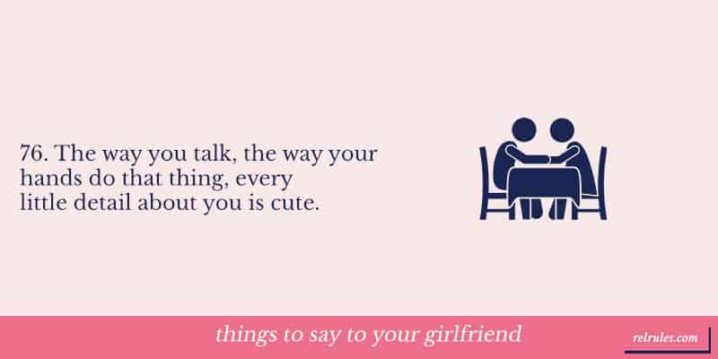 things to say to your girlfriend
