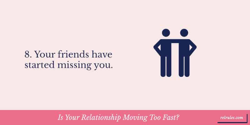relationship moving too fast