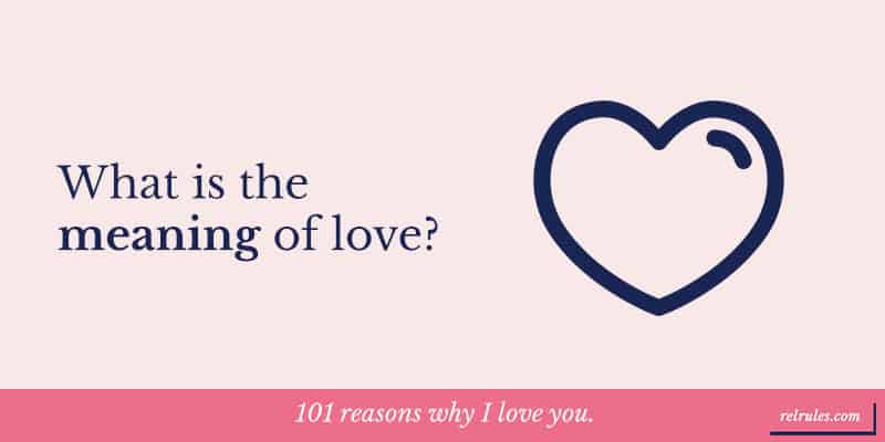 You love why we 100 Reasons