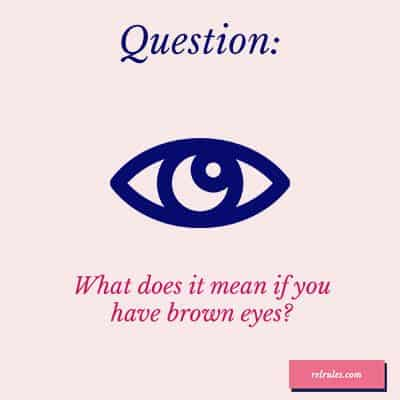 brown eyes meaning
